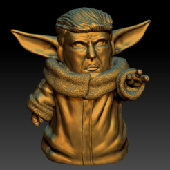 Download free 3D printing designs Yodatrump babyyoda v1 v2, Marolce19