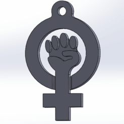 Download free 3D printing models feminist key ring, Marolce19