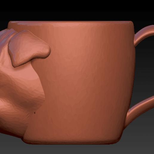 pug taza2.png Download free STL file Pug mug • 3D printer model, Marolce19