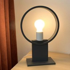 Télécharger fichier STL Lampe annulaire moderne, twooed