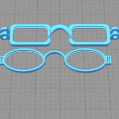 3D print model children's glasses, mendozamusserver