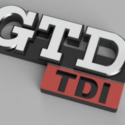 Adnotacja 2020-08-28 180515.png Download STL file GOLF MK2 II EMBLEM GTD TDI • 3D printer design, Marcin_Wojcik