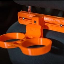 6599137a20b13dd8a21e31f2bd7ca972_preview_featured.jpg Download free STL file Cup holder for car headrest • 3D printing design, Marcin_Wojcik