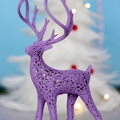 Free 3D printer files Reindeer voronoi, christmas deer, Marcin_Wojcik