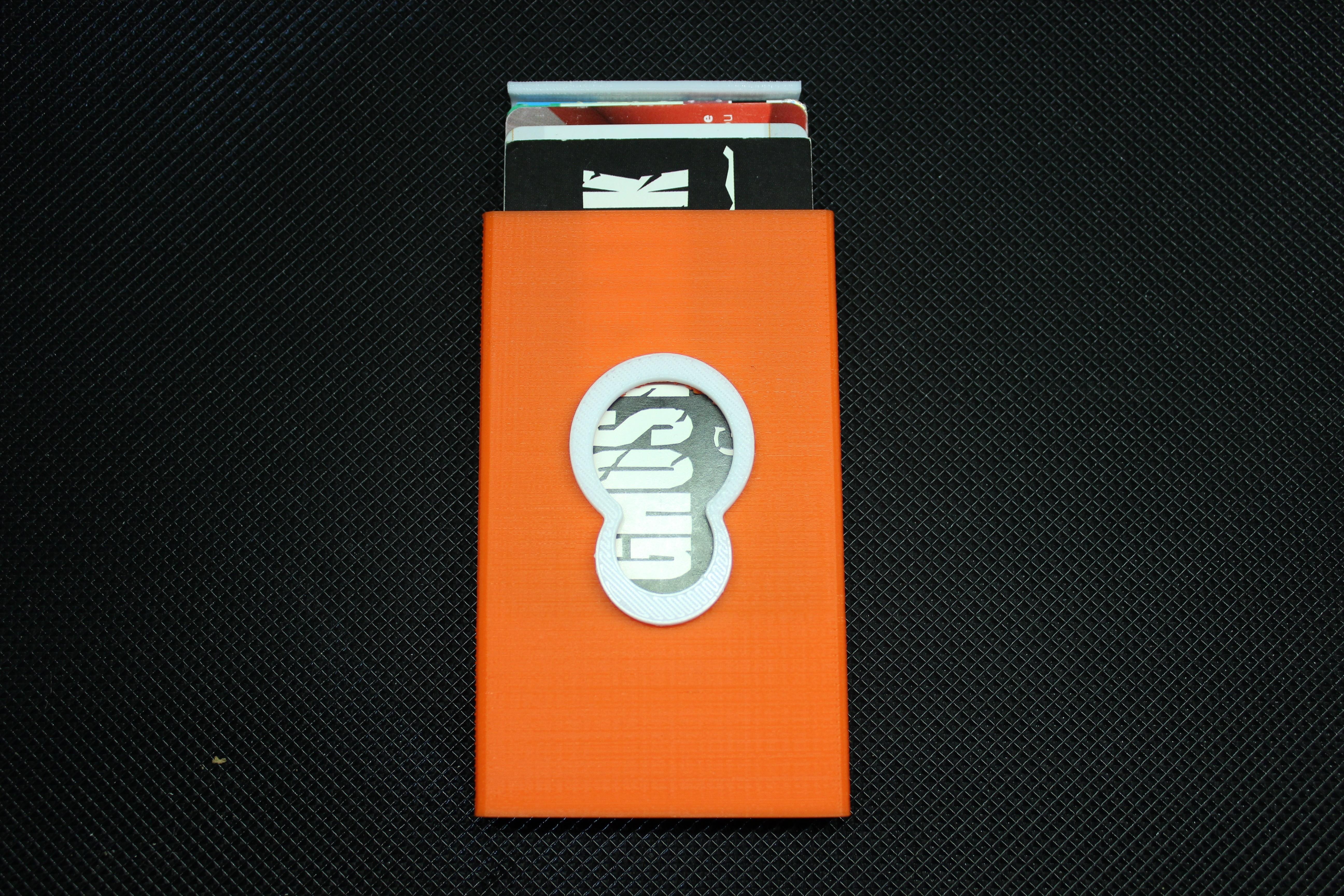 IMG_6806.JPG Download free OBJ file Business card holder Magigoo Logo • 3D printable design, F722