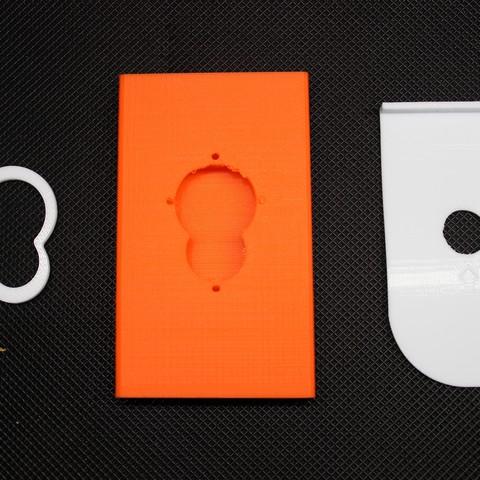 IMG_6801.JPG Download free OBJ file Business card holder Magigoo Logo • 3D printable design, F722