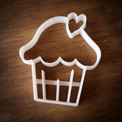 Download STL file Cupcake Valentine's Day Cookie Cutter, serayirmak