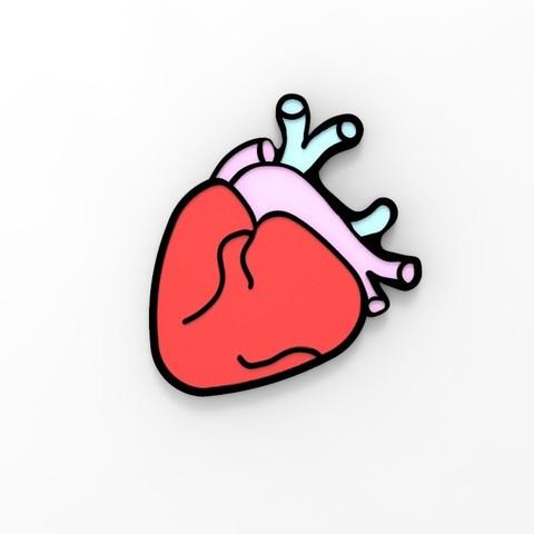 STL file Heart Magnet or Wall Decoration, serayirmak