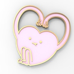 Download 3D printer designs Heart With Hands Magnet or Wall Decoration, serayirmak