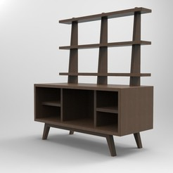 STL file Doll House TV Unit, serayirmak