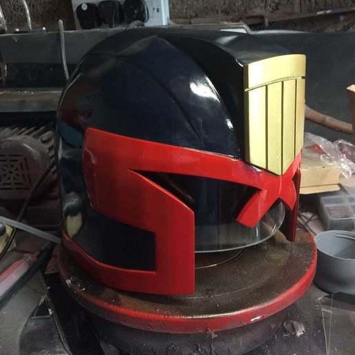 Download free STL file Judge Dredd Helmet • Design to 3D print, simonbramley
