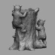 stl Porta lápices para tocones de árboles, JGranite