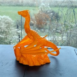 3D print files Dragon on Mountaintop, JGranite