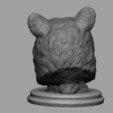 Imprimir en 3D Busto de oso negro, JGranite