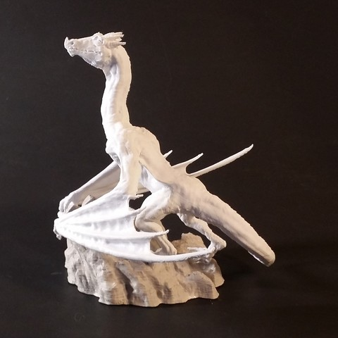 Imprimir en 3D Dragón en la cima de la montaña, JGranite