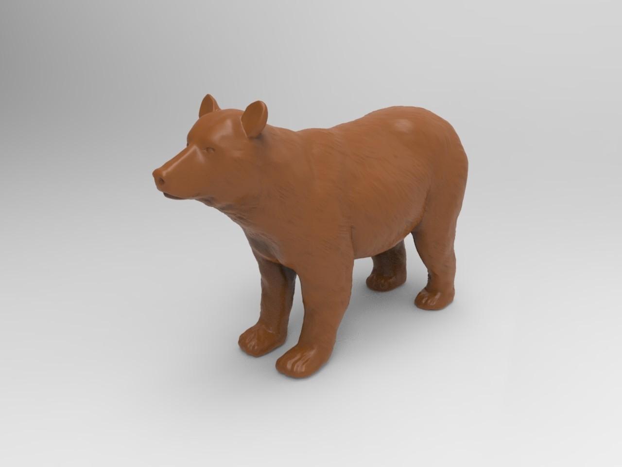 basic bear.jpg Télécharger fichier OBJ gratuit Ours brun • Modèle pour impression 3D, JGranite