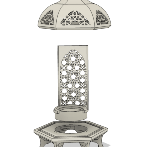 Screen Shot 2020-06-02 at 3.44.13 PM.png Download STL file Islamic Lantern • 3D printing model, ayfaridi