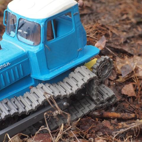 P4070518.JPG Download free STL file RC Soviet tractor DT-75 Kazakhstan (1\10 scale) • 3D printer design, gamebox13
