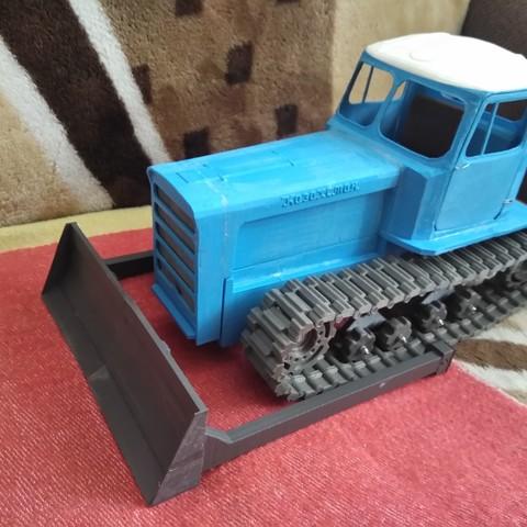 IMG_20180206_114752.jpg Download free STL file RC Soviet tractor DT-75 Kazakhstan (1\10 scale) • 3D printer design, gamebox13