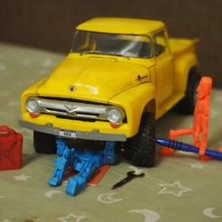 Download free STL file RC truck Ford F100 1956 on WPL • 3D printer model, gamebox13