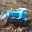 Free 3d print files RC Soviet tractor DT-75 Kazakhstan (1\10 scale), gamebox13