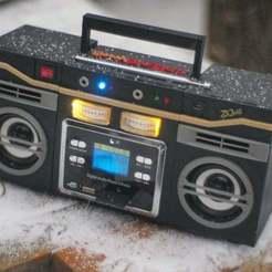 Télécharger STL gratuit Boombastic - lecteur de musique portable de la vieille école, gamebox13
