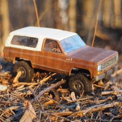 Free stl files  Chevrolet Blazer K5 - RC model with WPL axles, gamebox13