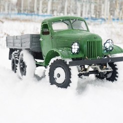 Free 3D print files ZIL-157 - RC truck with the WPL transmission , gamebox13