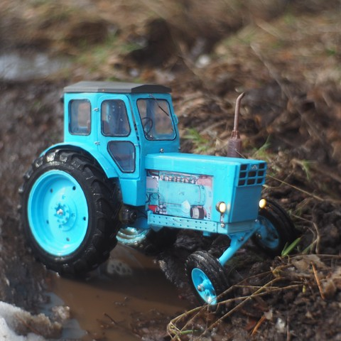 Download free 3D printer model LTZ T-40 - RC soviet tractor , gamebox13