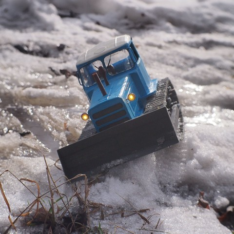 P4070558.JPG Download free STL file RC Soviet tractor DT-75 Kazakhstan (1\10 scale) • 3D printer design, gamebox13