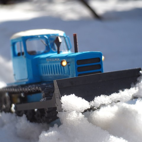 P4140492.JPG Download free STL file RC Soviet tractor DT-75 Kazakhstan (1\10 scale) • 3D printer design, gamebox13