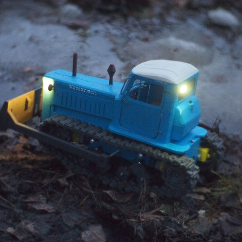 P4070561.JPG Download free STL file RC Soviet tractor DT-75 Kazakhstan (1\10 scale) • 3D printer design, gamebox13