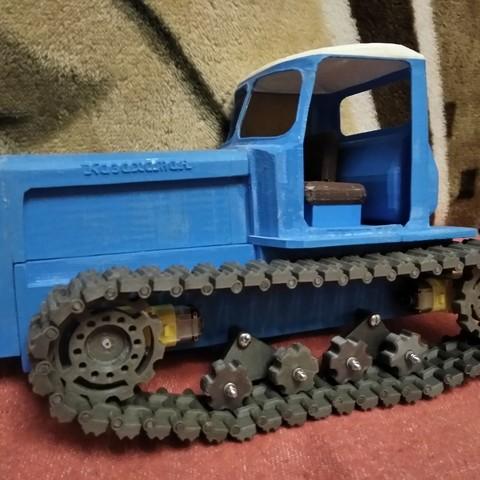 IMG_20180124_211716.jpg Download free STL file RC Soviet tractor DT-75 Kazakhstan (1\10 scale) • 3D printer design, gamebox13