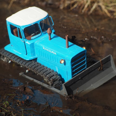 P4140498.JPG Download free STL file RC Soviet tractor DT-75 Kazakhstan (1\10 scale) • 3D printer design, gamebox13