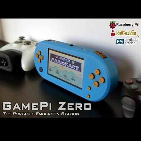 TitelBild_quad.jpg Download free STL file GamePi Zero • 3D printer template, araymbox