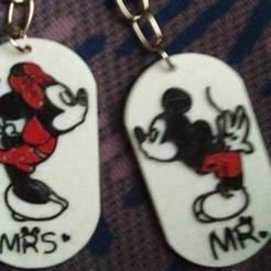 preview.jpeg Download STL file Minnie & Mickey • 3D print model, zzzzzcav