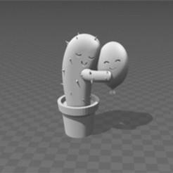 card_preview_3D_Builder_2.jpg Download STL file huggin cactus • 3D printing object, zzzzzcav