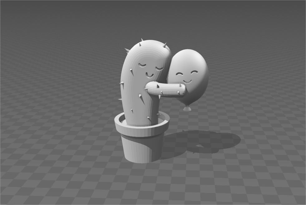 3D_Builder_2.jpg Download STL file huging cactus • 3D printing object, zzzzzcav
