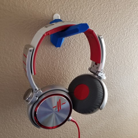Free stl files Wall-Mounted Headphone Holder, 3D_Cre8or