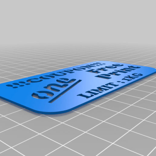 Free_Print_Coupon.png Download free STL file 1 Free Print Coupon • Model to 3D print, 3D_Cre8or