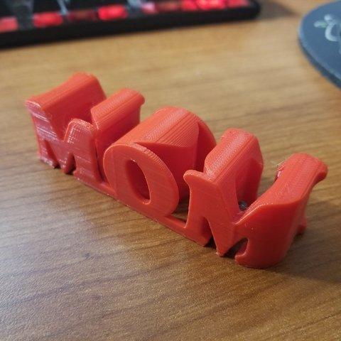Download free 3D printer designs I ❤️ U MOM!, 3D_Cre8or