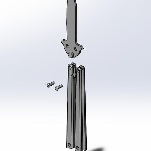 32cc54025bdf280b12af3e2752858446_display_large.jpg Download free STL file Butterfly Knife Trainer • 3D printable model, 3D_Cre8or