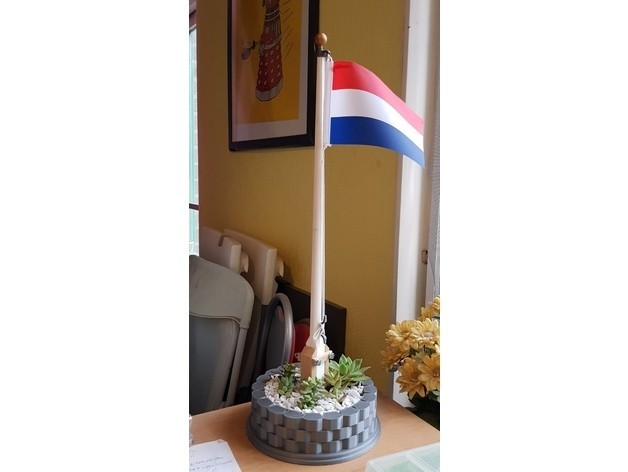 a75f9e114d9d0e74364c1e3befb7940f_preview_featured.jpg Download free STL file Classic Flagpole and planter • 3D printing object, Lau85