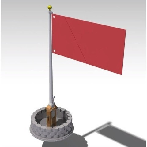 183a874cb16d7f70a5bde1579e5ca185_preview_featured.jpg Download free STL file Classic Flagpole and planter • 3D printing object, Lau85