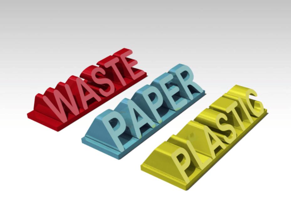 Capture d'écran 2018-04-25 à 11.32.21.png Download free STL file Signs for Recycling • 3D print object, Lau85