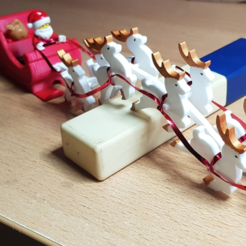 Free 3D printer designs Chain Harness for Santa Sleigh with Reindeer and Lego minifigures, Lau85