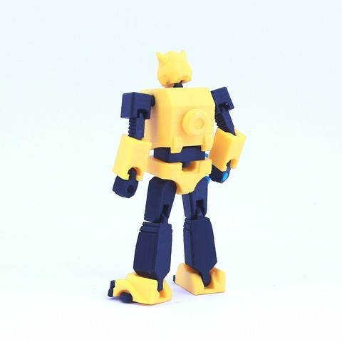 bee3.jpg Download free STL file ARTICULATED G1 TRANSFORMERS BUMBLEBEE - NO SUPPORT • 3D printing model, Toymakr3D