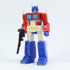 OP1x1_1.jpg Download free STL file ARTICULATED G1 TRANSFORMERS OPTIMUS PRIME - NO SUPPORT • 3D printable template, Toymakr3D