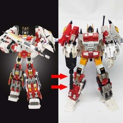 3d model KO TFC Uranos Upgrade Kit IDW Ver, Reza_Aulia