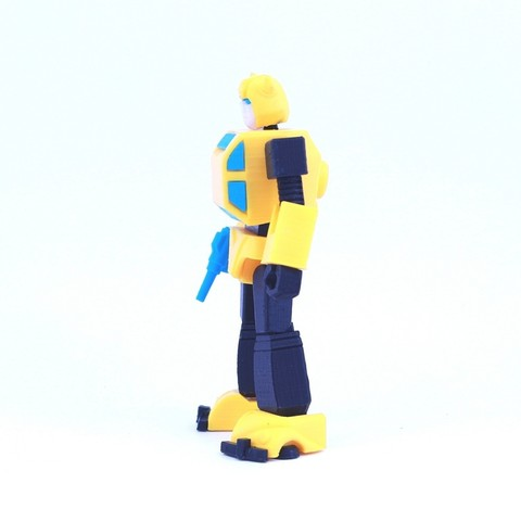 bee2.jpg Download free STL file ARTICULATED G1 TRANSFORMERS BUMBLEBEE - NO SUPPORT • 3D printing model, Toymakr3D